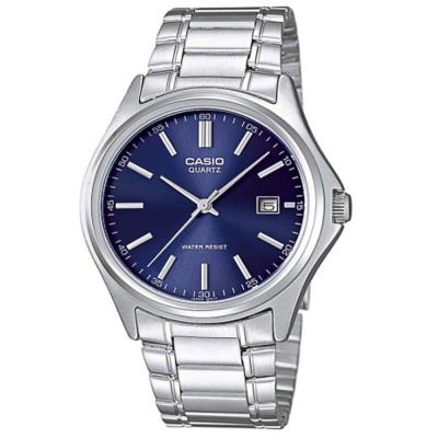 CASIO 城市時尚雅緻紳士腕錶-(MTP-1183A-2A)藍面/35mm