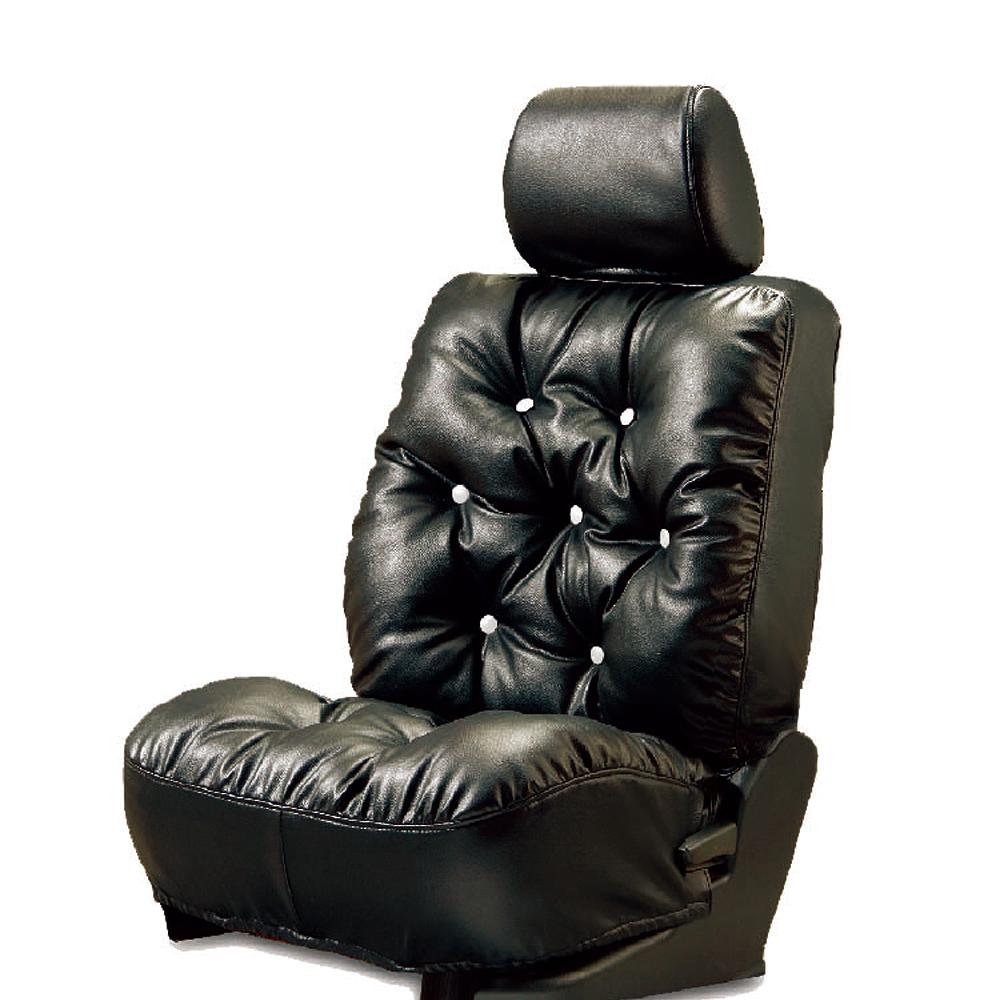 【葵花】量身訂做-汽車椅套-日式合成皮-舒適配色-A款-雙前座