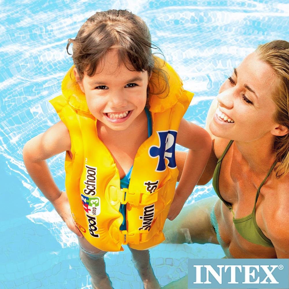 INTEX 游泳學校POOL SCHOOL-STEP 2 游泳背心3-6歲(58660)