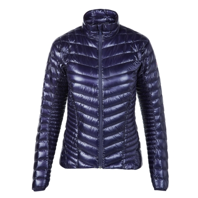 【Berghaus貝豪斯】女款頂級超輕溫度調節防潑水鵝絨外套F22FL9藍