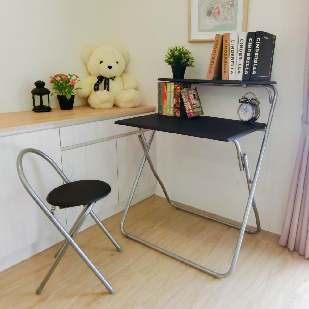 Amos-簡便摺疊收納書桌椅組80x53x97cm