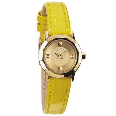 NIXON MINI B多角切割華麗時尚腕錶-黃/22mm