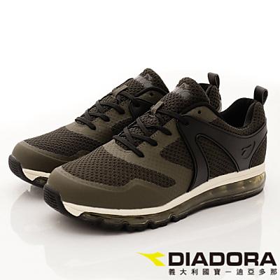 DIADORA-針織氣墊慢跑款-CSI055綠(男段)
