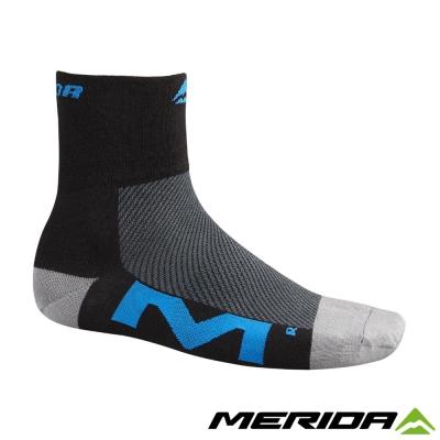 《MERIDA》美利達2317001196 車襪-黑/藍L Coolmax