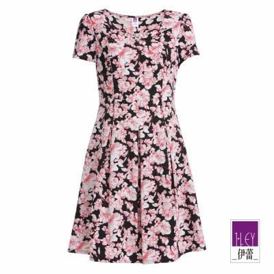 ILEY伊蕾-寶石滿版印花洋裝