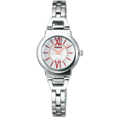 WIRED 知性美人手鍊女錶(AU9001X)-銀/22mm