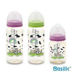 【貝喜力克】防脤氣寬口徑PES乳牛奶瓶組(2大1小)