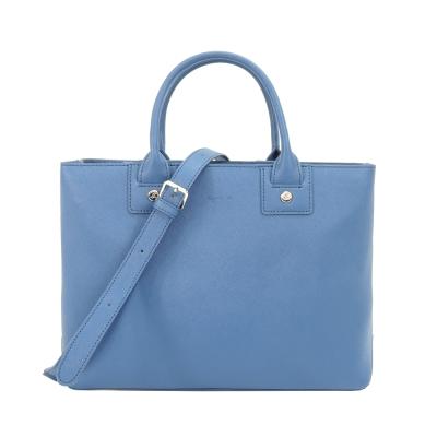agnes b. 防刮皮革手提/斜背包(小藍)