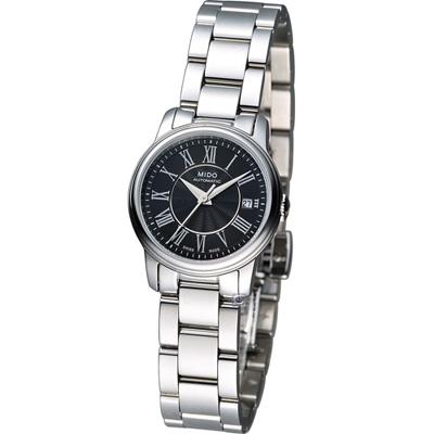 MIDO 美度 Baroncelli III 時尚名媛機械錶腕錶-黑/25mm