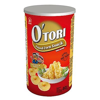 Otori歐特粒 罐裝玉米圈-天婦羅口味(80g)