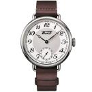 TISSOT 天梭 Heritage 1936 懷錶式機械腕錶-白x咖啡/45mm