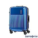 Samsonite 新秀麗 24吋Rexton直線條鋁框PC硬殼行李箱(藍)