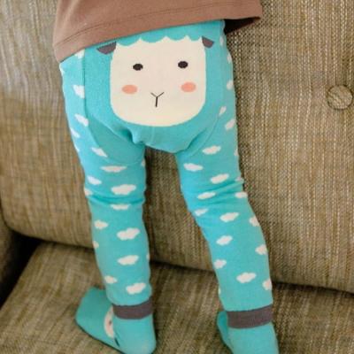 BEBEZOO 韓國 雲朵綿羊款彈性內搭褲襪子兩件組