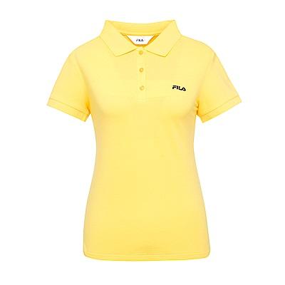 FILA 女款短袖POLO衫-黃 5POS-1511-YE