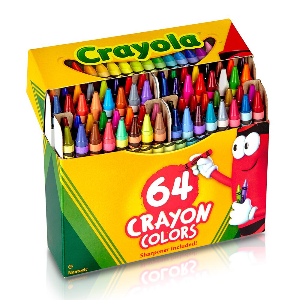 美國crayola 繪兒樂 彩色蠟筆64色(3Y+)