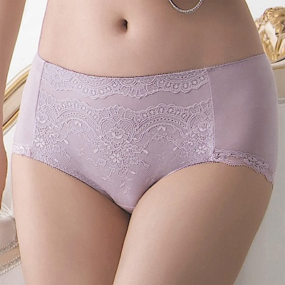 金華歌爾-寵愛 M-3L 中高腰三角褲(紫)絲蛋白素材