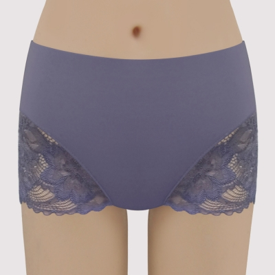 曼黛瑪璉 V極線 高腰平口修飾內褲(貴族紫)