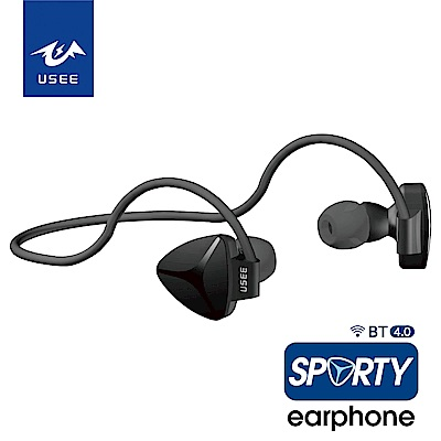 USEE 防汗超輕量線控運動藍芽耳機/兩色 UES 03B