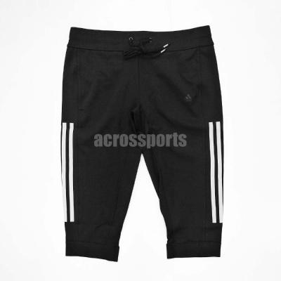 愛迪達 Adidas GYM Pant 運動 七分褲 女 黑色