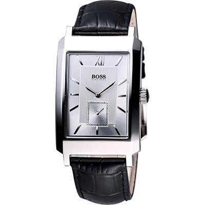 Hugo Boss 紳士時尚型男小秒針腕錶-銀/30x44mm