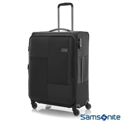 新秀麗29吋Cubix超輕量四輪可擴充布面行李箱黑