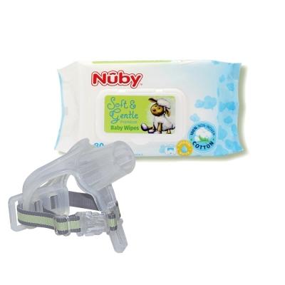 傳佳知寶 拇指醫生(拇指保護套)+Nuby 全棉柔濕巾80抽*1包