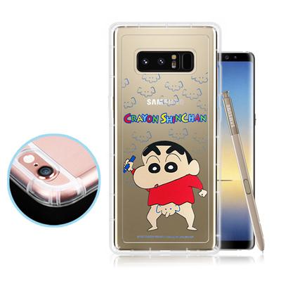 蠟筆小新正版授權 Samsung Galaxy Note 8 透明彩繪空壓保護殼...