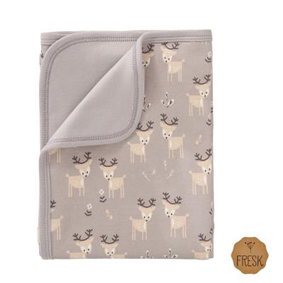 荷蘭 FRESK 有機棉嬰兒毯(灰色小鹿)