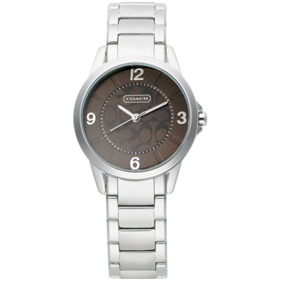 COACH Signature 永恆時尚優雅腕錶-咖啡/28mm