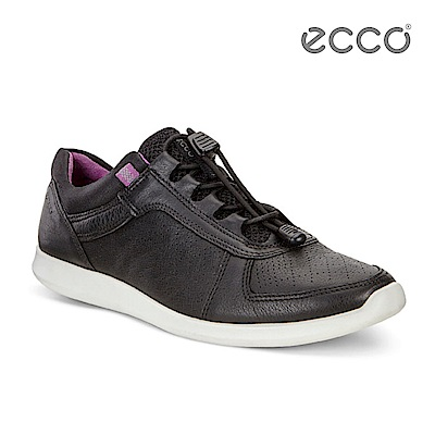 ECCO SENSE 快速扣運動風休閒鞋-黑