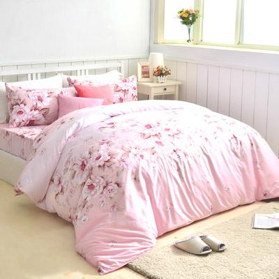 美夢元素 天鵝絨單人三件式 全鋪棉兩用被床包組-維斯蜜語