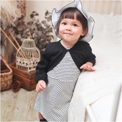 baby童衣 夏日微甜條紋洋裝附帽子 70104