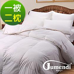 法國Jumendi-羽夢 嚴選台灣精製立體隔間雙人羽絲絨被(含2枕)