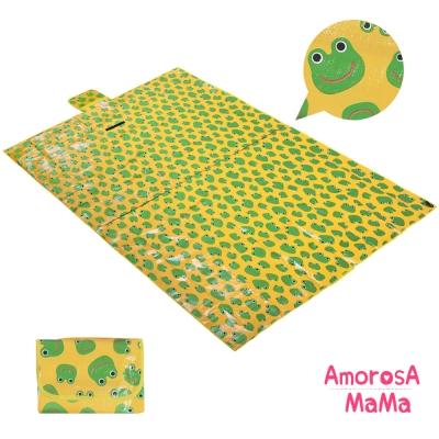 Amorosa Mama 折疊手提式戶外野餐墊/遊戲墊/地墊 (青蛙)