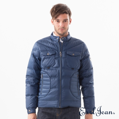 Earl Jean 大口袋盔甲羽絨外套-深藍-男
