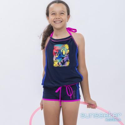 澳洲Sunseeker泳裝大女童抗UV防曬繞頸兩件式泳衣