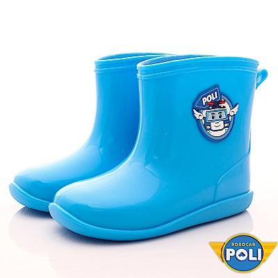 POLI童鞋 上學雨天必備雨鞋 EI1806藍(中小童段)