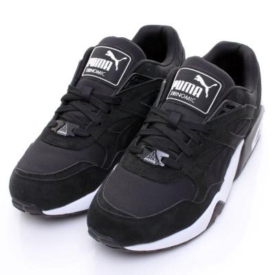 PUMA-R69男慢跑鞋36059201-黑