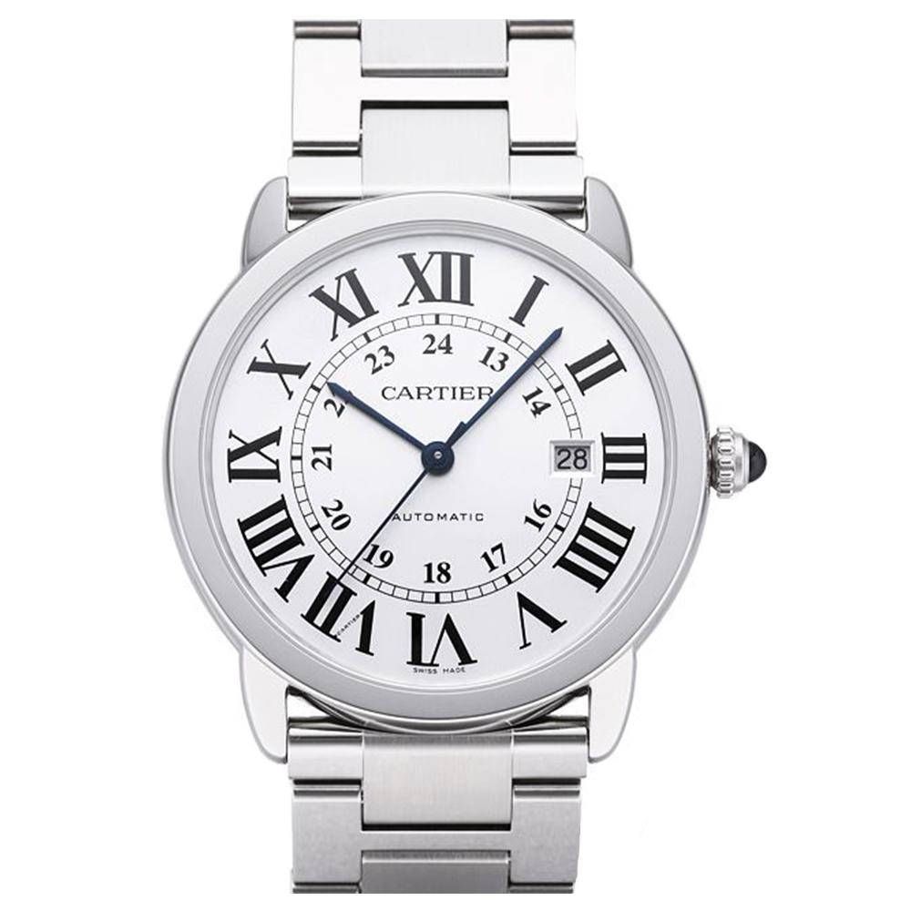 CARTIER RONDE SOLO 經典大型鍊帶腕錶(W6701011)-42mm