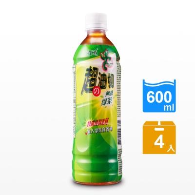 古道 超油切綠茶-新無糖(600mlx4瓶)