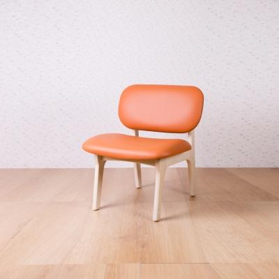 簡約風 菲特愛馬仕黃休閒椅-62x60x74cm
