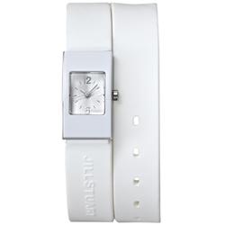 JILL STUART Loves&Supports系列簡約矽膠雙環腕錶*白/16mm