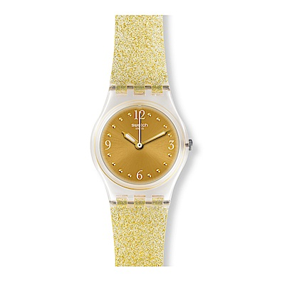 Swatch 就是SWATCH GOLDEN GLISTAR TOO 金色閃耀手錶