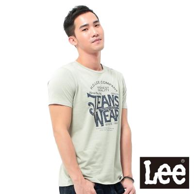 Lee 短袖T恤 圓領創意文字印刷 -男款(灰)