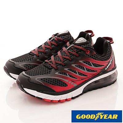 GOODYEAR-透氣緩震氣墊跑鞋-SE3372黑紅(男段)