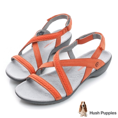 Hush Puppies THEIA 舒適機能涼鞋-橘色