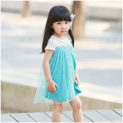 baby童衣 兒童洋裝 簍空蕾絲亮片紗裙 52282
