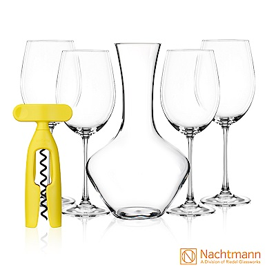 Nachtmann Vivendi維芳迪五件組(醒酒器-紅酒杯)