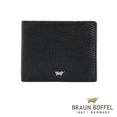 BRAUN BUFFEL - PLAYA佩雅系列4卡零錢袋皮夾 - 經典黑