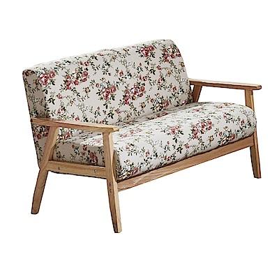 品家居 華莉亞麻布實木沙發雙人座-112x65x71cm免組